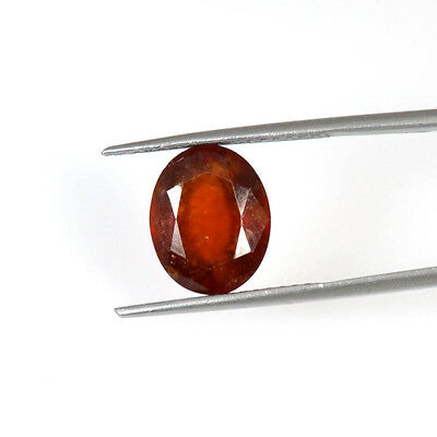 HESSONITE GARNET CUT6.47 Cts NATURAL OVAL FACETED LOOSE GEMSTONE 61-46