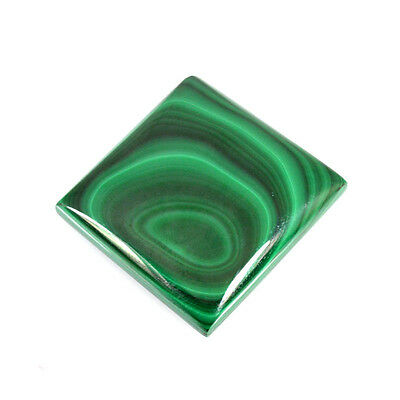 175.00 Cts NATURAL MALACHITE SQUARE CABOCHON LOOSE GEMSTONE 64-08