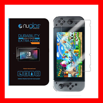 Genuine NUGLAS Tempered Glass Screen Protector Guard For Nintendo Switch 2x PACK