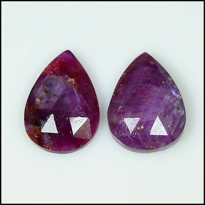RUBY ROSE CUT 10.70Cts NATURAL SUPERB SHAPE FANCY PAIR GEMSTONES AB07-71