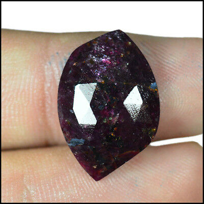 RUBY ROSE CUT 11.41Cts NATURAL AWESOME QUALITY FANCY GEMSTONES AB07-70