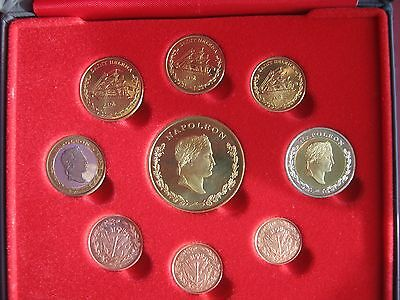 Saint Helena INA Fantasy Pattern Proof coin set Cent - 5 Euro COA 4000 Napoleon