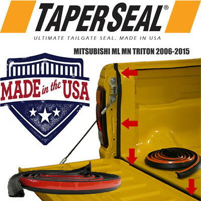 Mitsubishi Ml Mn Triton 2006 - 2015 Rubber Dust Tailgate Seal Kit (Made In Usa)