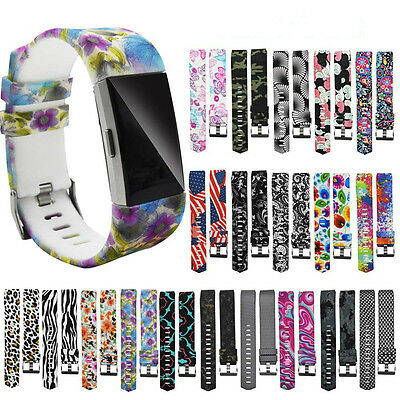 Colorful Sports Silicone Bracelet Strap Band Replacement For Fitbit Charge 2 New