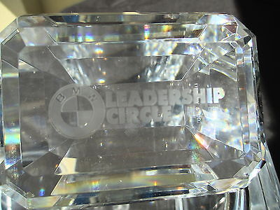 Tiffany & Co. B M W Leadership Circle Crystal Prism Oblong Paperweight BMW CAR