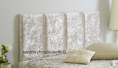 **crushed Velvet** Stafford Headboard All Sizes And Colours Available Free P & P