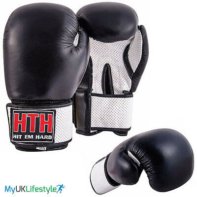 Cow Hide Leather Boxing Sparring Gloves Muay Thai kickboxing Training Punch Bag