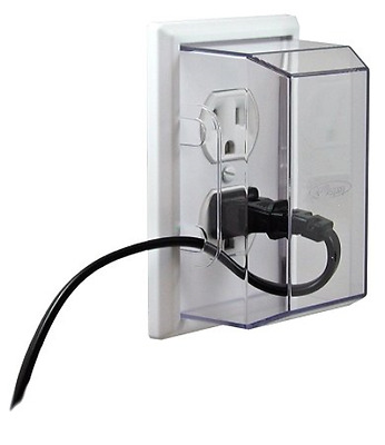 LectraLock - Baby Safety Electrical Outlet Cover - Duplex Style single type #4TX