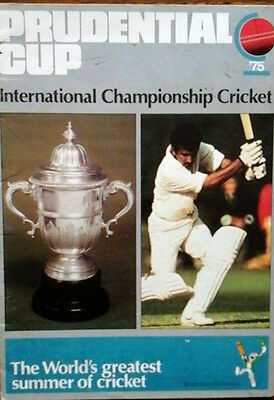 1975 Prudential Cricket World Cup 1St Ever Held In England