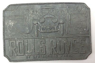 Rolls Royce Belt Buckle Style Plaque Display Vintage American Retro Classic