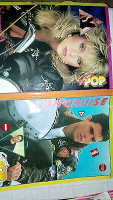 SUPERPOP carpeta revista rare folder spanish Samantha Fox Tom Cruise + pegatinas
