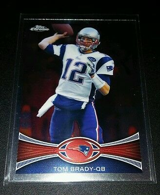 Tom Brady #50 Topps Chrome Refractor Trading Card NFL Football Patriots