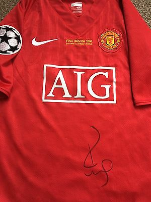 PAUL SCHOLES SIGNED MANCHESTER UNITED Champions League Shirt 2008 Man Utd