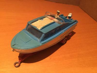 Corgi Toys 104 Dolphin 20 4 Berth Cruiser Boat on Trailer with Figure GC