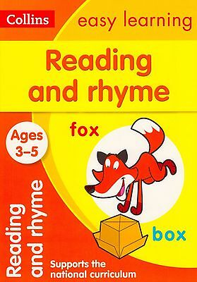 Collins Easy Learning Reading and Rhyme Ages 3-5 BRAND NEW BOOK (Paperback 2015)