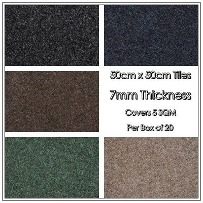 Heavy Duty VELOR Carpet Tiles @ £39.99 per Box *Available in 6 Colours*