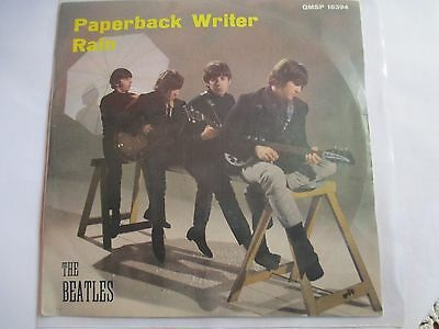 """THE BEATLES """" Paperback Writer/Rain """"  QMSP 16394 - Made in Italy 1966"""