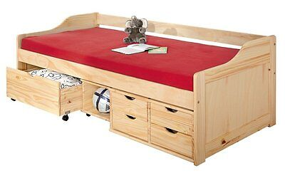 Maxima 90X200Bed With Extractable Second-Bed. Size 97X206X70H. Solid Pine