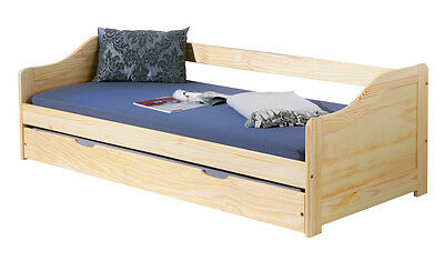 Laura 90X200  Bed With Second Bed Extractable. Dim. 97X209X66H. Solid Pine
