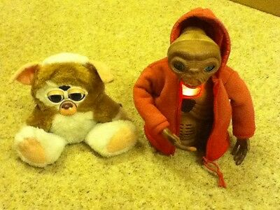 Hasbro Interactive Furby E.T & Gremlins Gizmo (Both Move But NO sound) SEE VIDEO