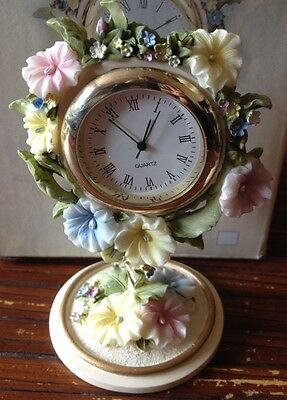 The Leonardo Collection Floral Treasures Ornamental Clock Beautiful New & Boxed