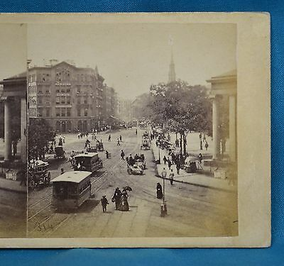 1860s Stereoview 314 Park Row From Tryon Row Times Bldg New York E Anthony USA
