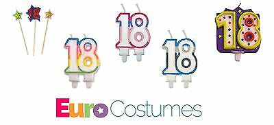 Number 18 18th Birthday Candle Cake Decoration Party Milestone 5 Designs