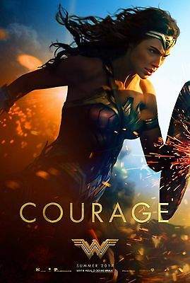 (4) All Four WONDER WOMAN 11x17 mini movie poster _COMIC CON Style collectible