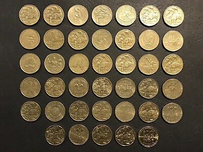 Australian $1 One Dollar Complete Coin Collection - 1984 to 2017