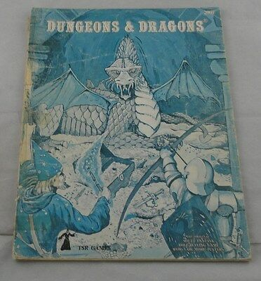 Dungeons & Dragons Basic RPG book by TSR (Blue Cover, 1978) TSR2001 D&D