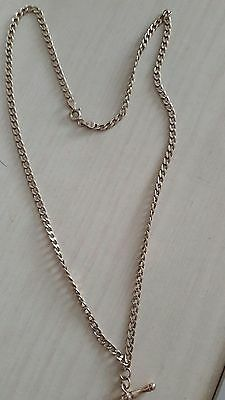9ct Gold Necklace Chain and T-Bar 18inch Hallmarked 9K Gold