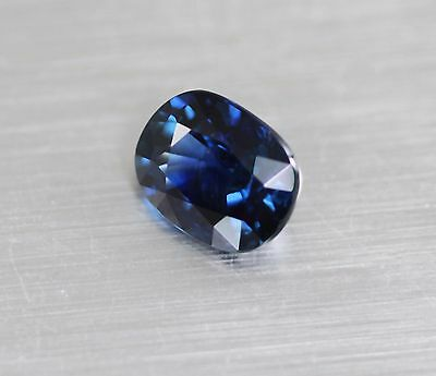 1.5Cts Top !!! Natural Unheated  Blue Green Sapphire Srilanka Loose Gemstone