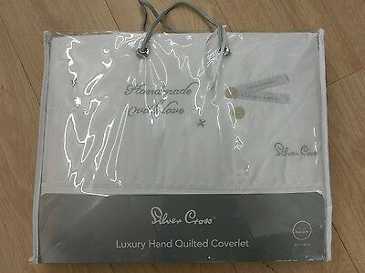 Silver Cross Hand Made With Love Coverlet