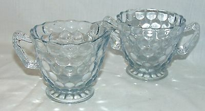 Anchor Hocking BUBBLE BLUE *CREAMER & SUGAR*
