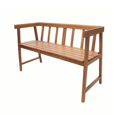 Designer Acacia & Eucalyptus Hardwood Timber Wood Outdoor Bench Seat Chair Rest