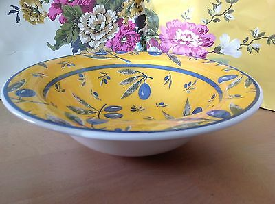 LIGNE HOTESSE French Faience~* Olive *~by Marc Palluy-LARGE CERAMIC BOWL- 30 cms