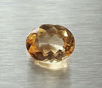 WaterfallGems Ouro Preto Imperial Topaz Oval, 6.8x5.4mm, 0.93ct