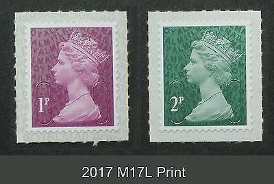 2017 M17L 1p and 2p from Counter Sheets SINGLE STAMPS