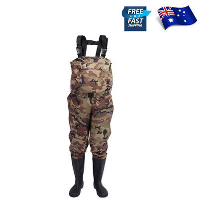Breathable Fly Fishing Waders Waterproof Chest Wader pants with stocking foot