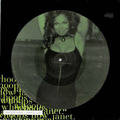 "Janet Jackson Whoops Now 12"" Vinyl Picture Disc Record + Poster"
