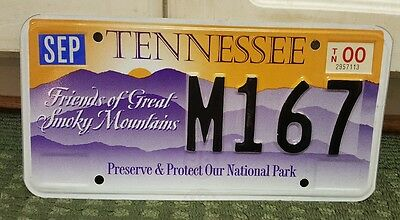 2000 Tennessee Friends of Great Smoky Mountains License plate #M167