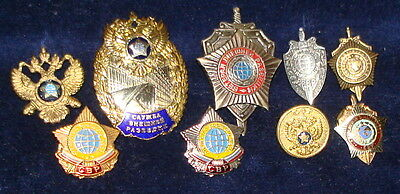 Badge 9 pieces Foreign intelligence service Russia Spy Scouts SVR (PGU KGB)