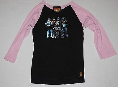 KISS Love Gun Dragonfly 2002 Ladies Pink Black Jersey T-Shirt Unworn M Gene Ace