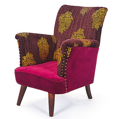 OrianaArmchair. Size 78X90X102H - Wood Structure, Viscose Coating And Polyester