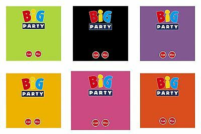 Pack of 50 x 33cm Disposable Paper 2 Ply Napkins 15 Colours Party BBQ Birthday