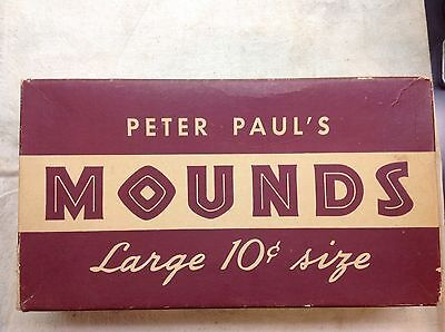 Vintage PETER PAUL'S Large Size Candy Box - Mounds