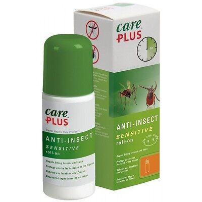 Care Plus Sensitive Anti Mosquito ROLL ON insect 60ml Deet Free 20% ICARIDIN