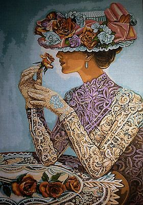 "Gobelin Tapestry Needlepoint Kit ""Lady""  printed canvas 509"