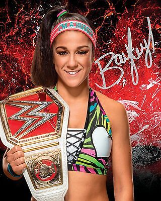 BAYLEY #2 (WWE) - 10x8 PRE PRINTED LAB QUALITY PHOTO (SIGNED) (REPRINT)