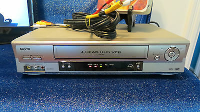 Sanyo VWM-900 Stereo VHS VCR Video Cassette Player w/ AV Cable and Movie BUNDLE